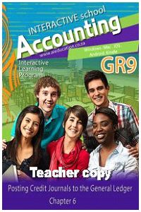 Chapter 6 Posting Credit Journals to General Ledger - R30